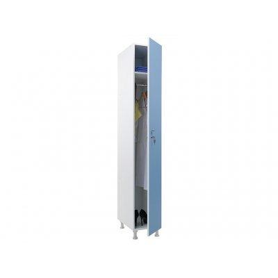 Шкаф для раздевалок WL 11-30 голубой/белый