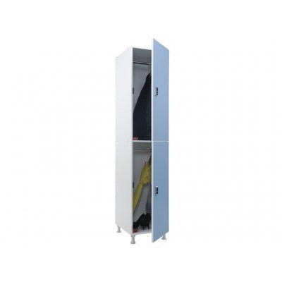 Шкаф для раздевалок WL 12-40 EL голубой/белый