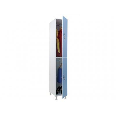 Шкаф для раздевалок WL 12-30 голубой/белый