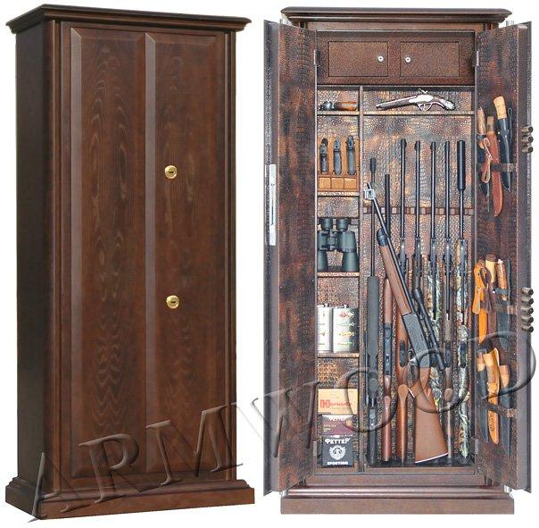 Оружейный сейф в дереве Armwood 757d32 G Lux.