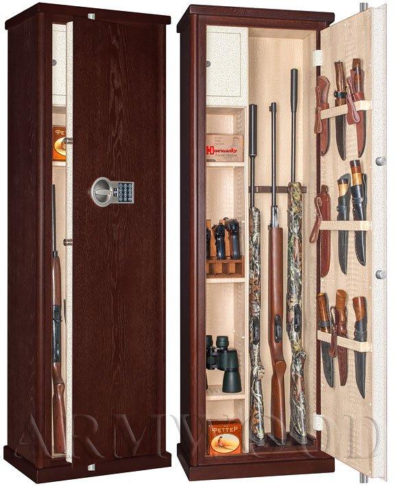 Оружейный сейф в дереве Armwood 535 EL Lux