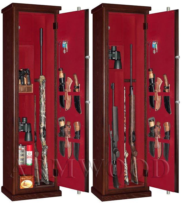 Оружейный сейф в дереве Armwood 524 EL Flock