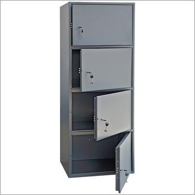 Шкаф металлический четырёхъячеечный армейский AS-1500-4
